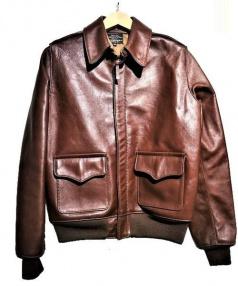 AERO LEATHER(エアロレザー)の古着「A-2ジャケット」|ブラウン