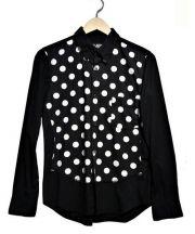 BLACK COMME des GARCONS(ブラック コムデギャルソン)の古着「ドット切替シャツ」 ブラック