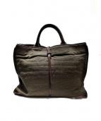 genten(ゲンテン)の古着「キャンバスレザートートバッグ」|ブラウン