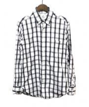 Black Fleece(ブラックフリース)の古着「ボタンダウンシャツ」|ネイビー×ホワイト