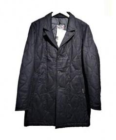 LAVENHAM×THE FOURNESS(ラベンハム×ザ・フォーネス)の古着「キルティングコート」 ネイビーカモ
