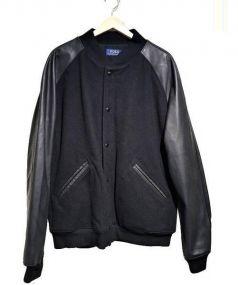 POLO RALPH LAUREN(ポロ ラルフローレン)の古着「レザー切替アワードジャケット」|ブラック