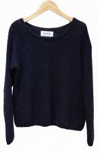 ROPE(ロペ)の古着「モヘア混ニット」|ネイビー