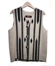 CENTINELA(センチネラ)の古着「ネイティブベスト」|アイボリー
