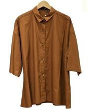 DRESSLAVE(ドレスレイブ)の古着「半袖シャツ」 ブラウン