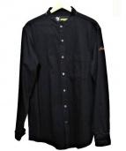 FAT(エフエーティー)の古着「バンドカラーデニムシャツ」|ブラック