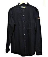 FAT(エフエーティー)の古着「バンドカラーデニムシャツ」 ブラック
