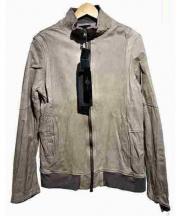 Shama(シャマ)の古着「レザートラックジャケット」|グレー