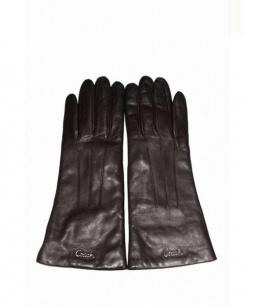 COACH(コーチ)の古着「レザーグローブ」 ブラック