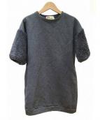 Traditional Weatherwear(トラディショナルウェザーウェア)の古着「袖ボアスウェットワンピース」 グレー