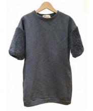 Traditional Weatherwear(トラディショナルウェザーウェア)の古着「袖ボアスウェットワンピース」|グレー