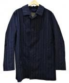 MACKINTOSH(マッキントッシュ)の古着「ウールゴム引きコート」|ネイビー
