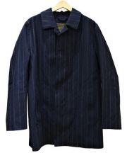 MACKINTOSH(マッキントッシュ)の古着「ウールゴム引きコート」 ネイビー