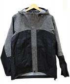 Aquascutum(アクアスキュータム)の古着「ウール切替ジャケット」|グレー×ブラック