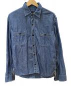 TENDERLOIN(テンダーロイン)の古着「シャンブレーシャツ」
