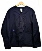 POST O'ALLS(ポストオーバーオールズ)の古着「ノーカラーカバーオール」|ネイビー