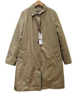 MHL.(エムエイチエル)の古着「ダウンライナーステンカラーコート」 ベージュ