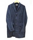 BEAUTY&YOUTH(ビューティーアンドユース)の古着「リネン混チェスターコート」|ネイビー