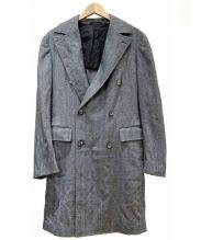 stile latino(スティレラティーノ)の古着「カシミヤ混ダブル6Bチェスターコート」 グレー