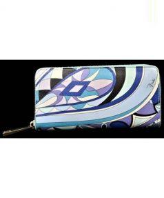 Emilio Pucci(エミリオプッチ)の古着「ラウンドファスナー財布」|ブルー