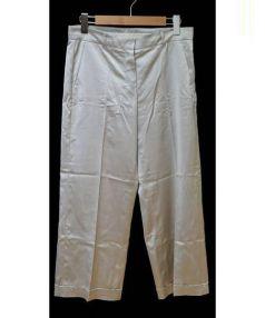 S Max Mara(エス マックスマーラ)の古着「ビスコースサテンワイドパンツ」|グレージュ