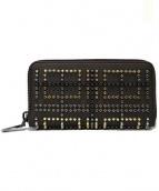 Christian Louboutin(クリスチャンルブタン)の古着「ラウンドファスナー財布」|ブラック
