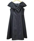 STRAWBERRY FIELDS(ストロベリーフィールズ)の古着「ノースリーブワンピース」|ブラック