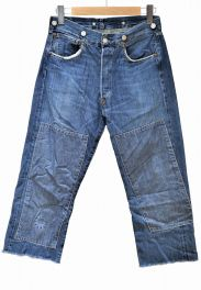 LEVIS(リーバイス)の古着「リメイクカットオフデニムデニムパンツ」