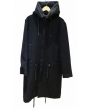 ffixxed studios(フィックスステュディオス)の古着「フーデッドコート」|ブラック
