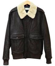 A.P.C Louis W.(アー・ペー・セー ルイ・ウォン)の古着「G-1タイプレザージャケット」 ブラウン