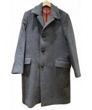 ETRO(エトロ)の古着「カシミヤ混裏地シルクウールコート」 グレー