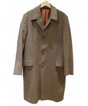 ETRO(エトロ)の古着「裏ペイズリーウールチェスターコート」 ブラウン