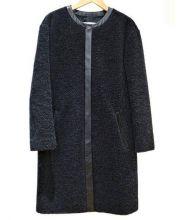 ASTRAET(アストラット)の古着「BOA NO-COLLAR COAT」|ブラック