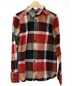 BLUE LABEL CRESTBRIDGE(ブルーレーベルクレストブリッジ)の古着「チェックシャツ」|レッド