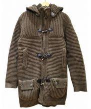 BARK(バーク)の古着「ニットダッフルコート」|ブラウン