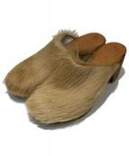 BOSABO(ボサボ)の古着「ハラコサンダル」|ベージュ