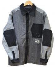 Y-3(ワイスリー)の古着「Herringbone Overshirt」 ブラック×グレー