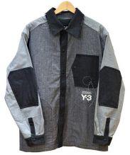 Y-3(ワイスリー)の古着「Herringbone Overshirt」|ブラック×グレー