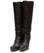 SARTORE(サルトル)の古着「レザーロングブーツ」 ブラウン