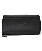 COACH(COACH)の古着「ダブルジップ財布」|ブラック