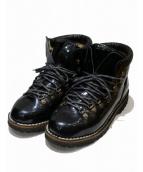 DIEMME(ディエッメ)の古着「パテントブーツ」|ブラック