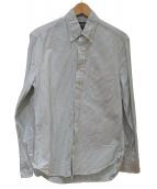 GITMAN BROS VINTAGE(ギットマンヴィンテージ)の古着「ストライプオックスフォードBDシャツ」|ホワイト×カーキ