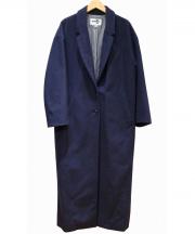 ATMOS LAB(アトモスラボ)の古着「DROP SHOULDER LONG COAT」|ネイビー