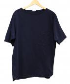 COMOLI(コモリ)の古着「ボートネックポケットTシャツ」 ネイビー