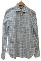ISAIA(イザイア)の古着「ホリゾンタルカラーシャツ」
