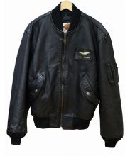 HARLEY-DAVIDSON(ハーレーダビットソン)の古着「レザージャケット」 ブラック