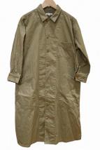 HAVERSACK(ハバーサック)の古着「ギャザー 3/4スリーブ ワークシャツワンピース」
