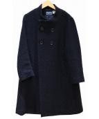 BLUE BLUE(ブルーブルー)の古着「ウールコート」|ネイビー
