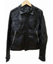BARK TANNAGE(バークタンネイジ)の古着「ゴートスキンレザージャケット」|ブラック