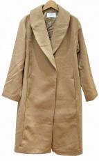 FRAY ID(フレイアイディー)の古着「ショールカラーチェスターコート」|ベージュ